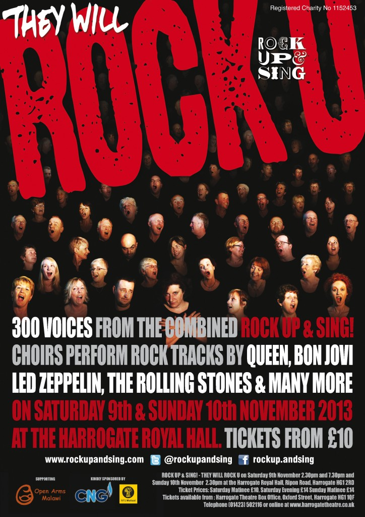 They WIll Rock You - Rock Up And Sing's November 2013 concert
