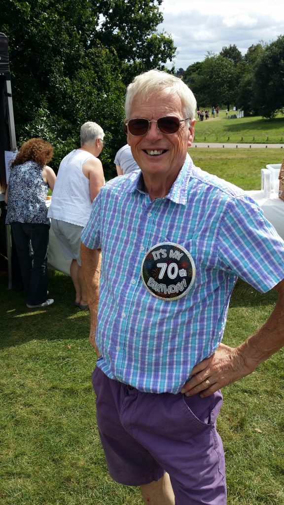 The birthday boy - my Dad on his 70th birthday at the BeVox Summer Picnic